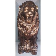 Лев скульптура. Бронза