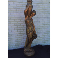 Статуя девушка с кувшином.  Полистоун. Цвет бронза+