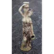 Статуя девушка с кувшином. Шамот.