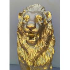 Лев скульптура. Золото
