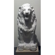 Лев скульптура.Белый.